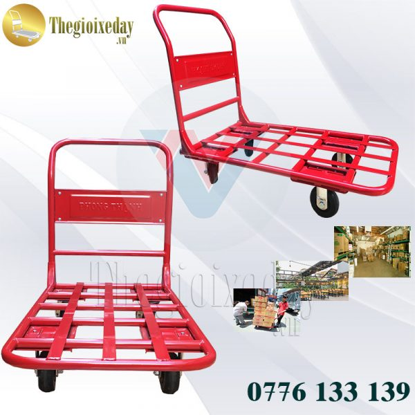 Ứng dụng xe đẩy hàng 4 bánh 300Kg Phong Thạnh XTH 130N chuyên dụng