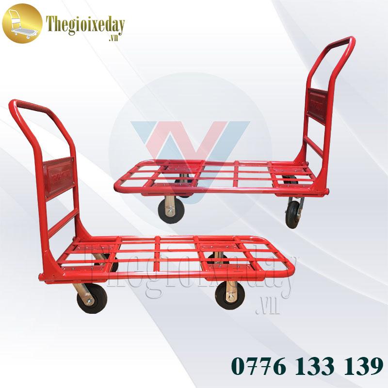 Đại lý xe đẩy hàng 4 bánh 300Kg Phong Thạnh 130N giá tốt hỗ trợ giao hàng Toàn Quốc